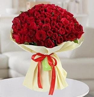 101 adet kırmızı gül buketi koca demet  Adıyaman internetten çiçek siparişi