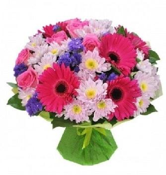 Karışık mevsim buketi mevsimsel buket  Adıyaman çiçek satışı