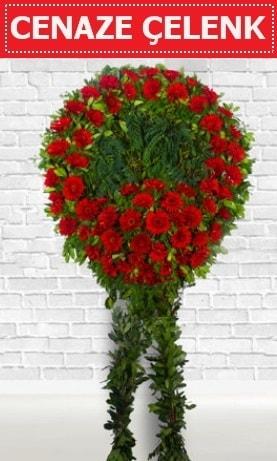 Kırmızı Çelenk Cenaze çiçeği  Adıyaman İnternetten çiçek siparişi