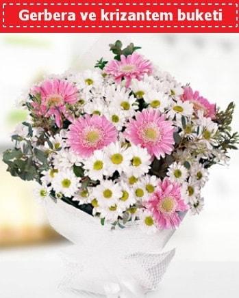 Papatya ve Gerbera Buketi  Adıyaman çiçek , çiçekçi , çiçekçilik