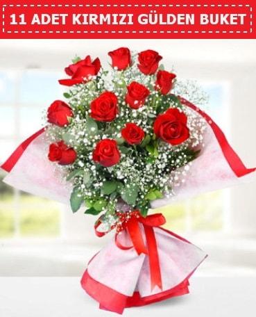 11 Adet Kırmızı Gül Buketi  Adıyaman internetten çiçek siparişi
