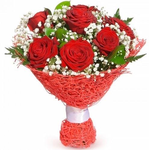 7 adet kırmızı gül buketi  Adıyaman çiçekçiler